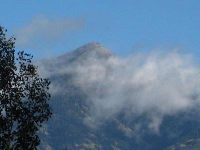 First Snow Of The Season Kisses The Sacred Peak; Devoted To Thoreau