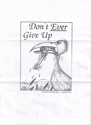 Don't ever give up…